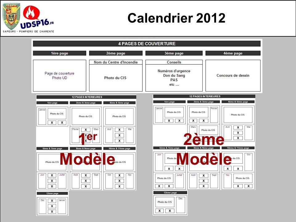 Calendrier 2012 1 er Modèle 2ème Modèle