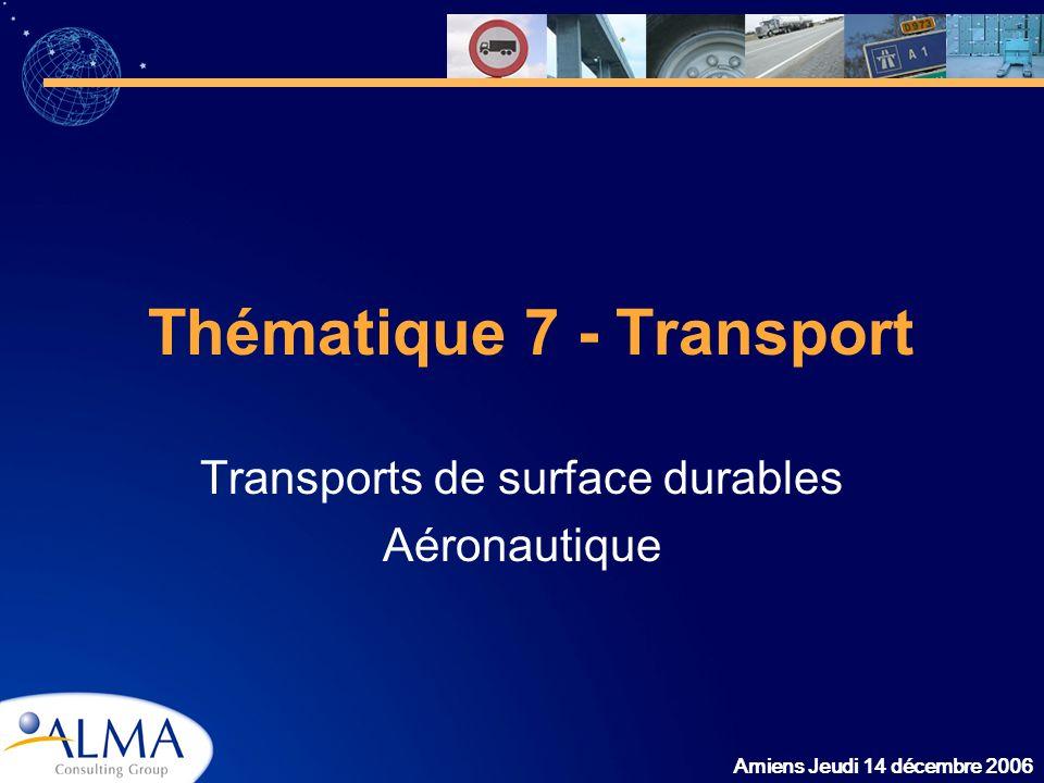 Amiens Jeudi 14 décembre 2006 Thématique 7 - Transport Transports de surface durables Aéronautique