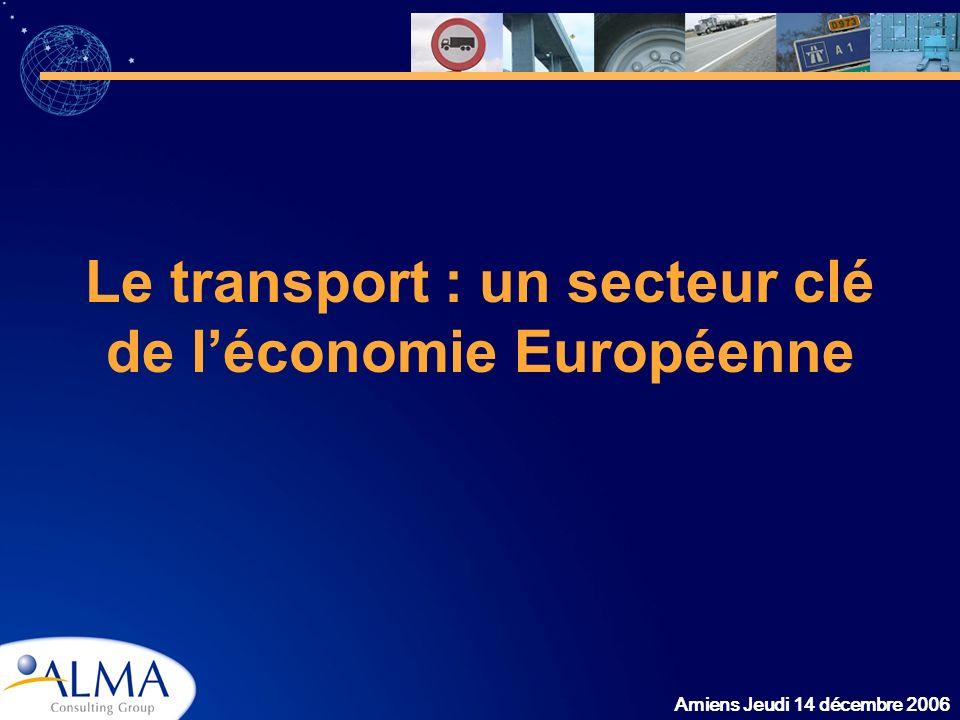 Amiens Jeudi 14 décembre 2006 Le transport : un secteur clé de léconomie Européenne
