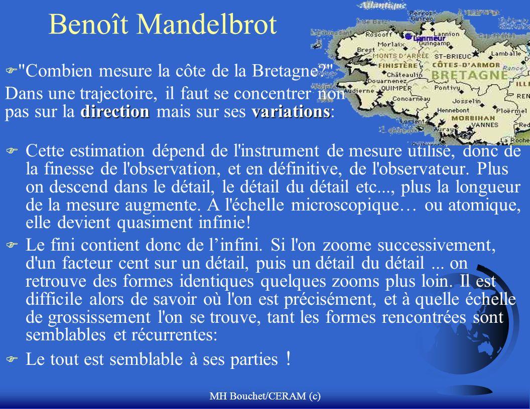 MH Bouchet/CERAM (c) Benoît Mandelbrot F Cette estimation dépend de l'instrument de mesure utilisé, donc de la finesse de l'observation, et en définit