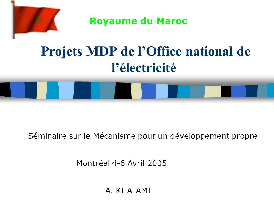 22 Projet : Parc éolien de Tarfaya de 60 MW (180 GWh); Catégorie : Énérgie renouvelable; Promoteur du projet : Office national de lélectricité (ONE); 1 re année de délivrance des UCRE : 2007; Période de comptabilisation : 2007-2016; Quantité des UCRE (t) : 0,135 million; État davacement : préparation de la NIP.