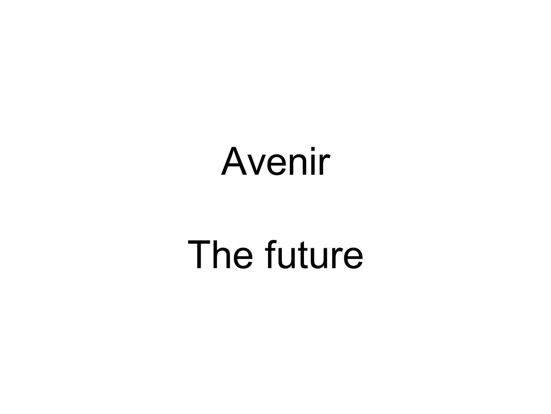 Avenir The future