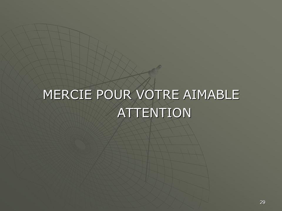 MERCIE POUR VOTRE AIMABLE ATTENTION ATTENTION 29