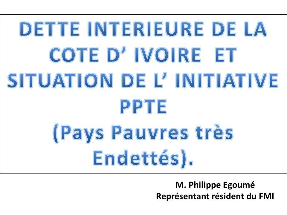 M. Philippe Egoumé Représentant résident du FMI