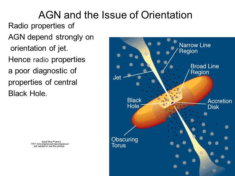 AGN and the Issue of Orientation Radio properties of AGN depend strongly on orientation of jet.