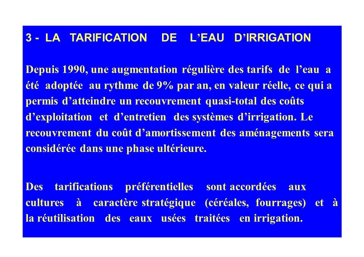 2- LA DECENTRALISATION DE LA GESTION DE LEAU ET LA PROMOTION DES ASSOCIATIONS DUSAGERS ET DE LA GESTION PARTICIPATIVE On dénombre actuellement 970 gro