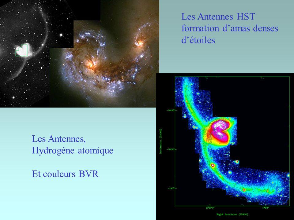 22 Les Antennes HST formation damas denses détoiles Les Antennes, Hydrogène atomique Et couleurs BVR