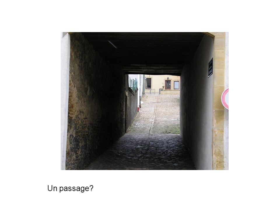 Un passage?