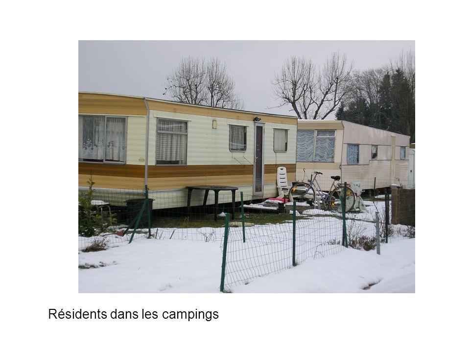 Résidents dans les campings