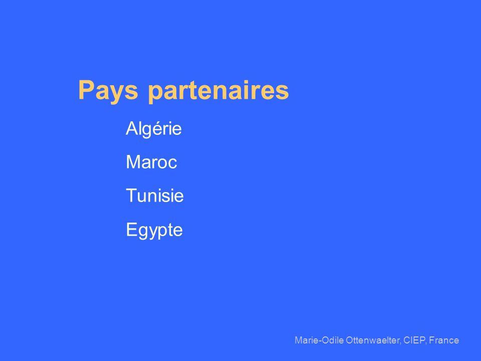 Pays partenaires Algérie Maroc Tunisie Egypte Marie-Odile Ottenwaelter, CIEP, France