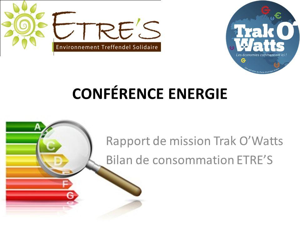 CONFÉRENCE ENERGIE Rapport de mission Trak OWatts Bilan de consommation ETRES