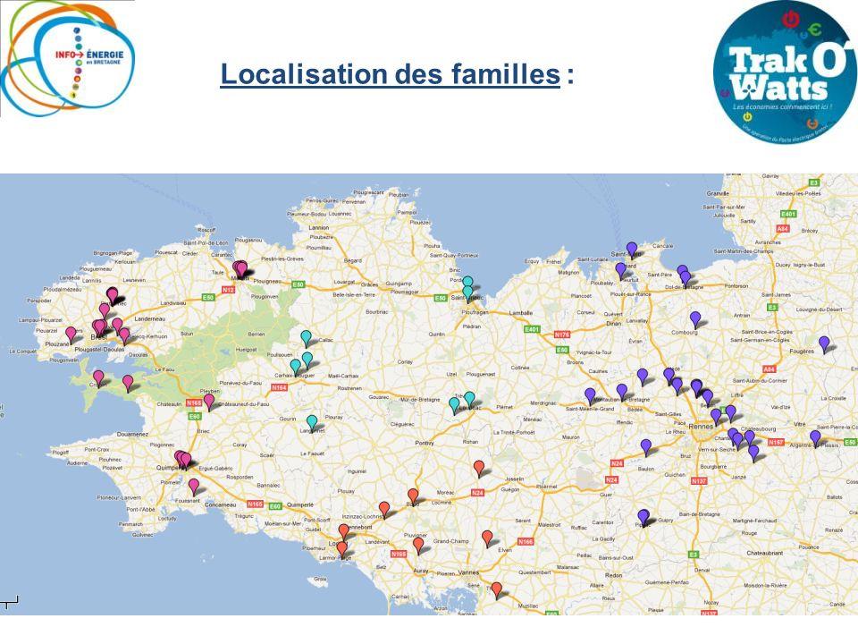 Localisation des familles :