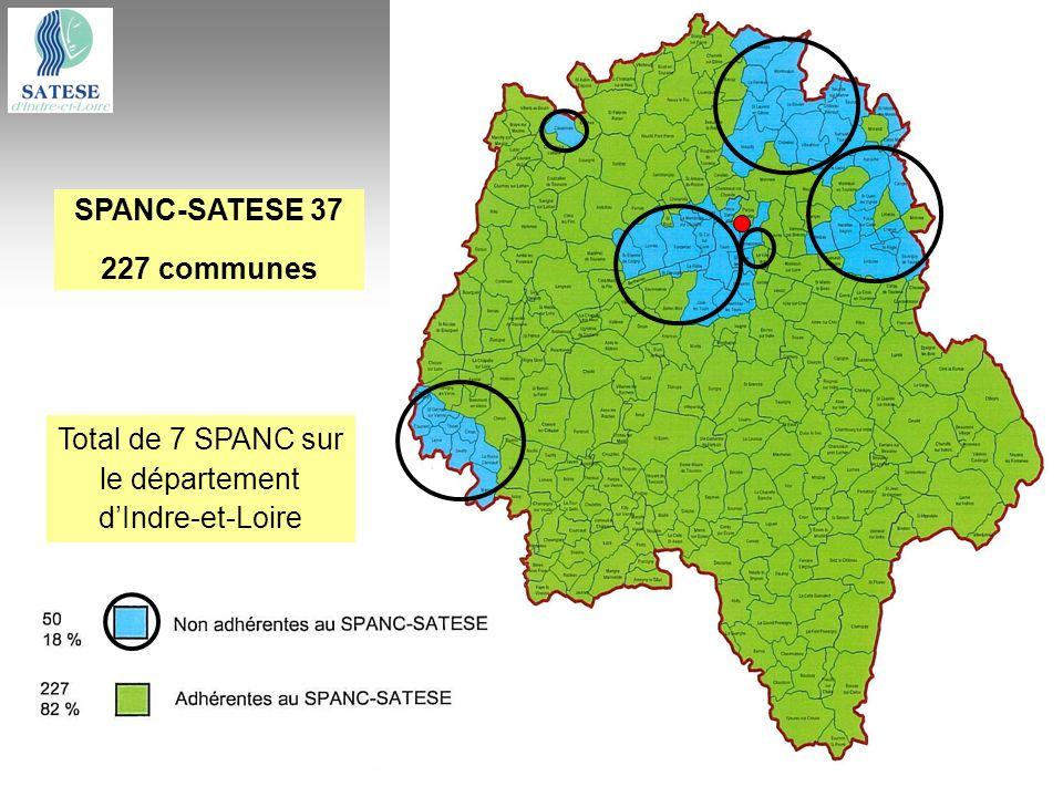 SPANC-SATESE 37 227 communes Total de 7 SPANC sur le département dIndre-et-Loire