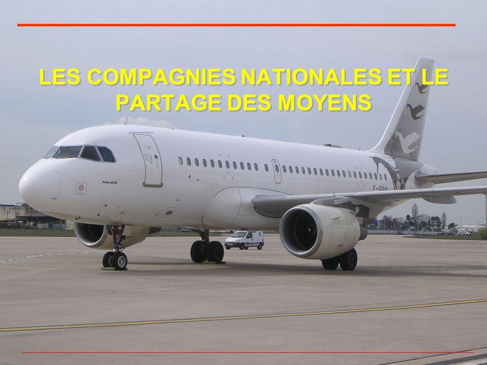LES COMPAGNIES NATIONALES ET LE PARTAGE DES MOYENS
