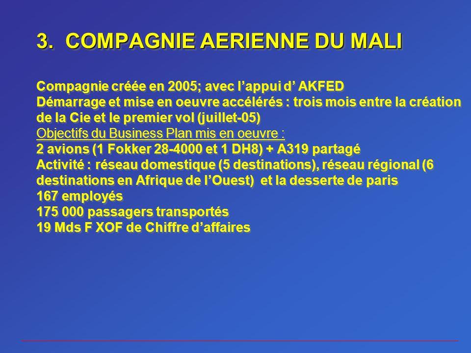 3. COMPAGNIE AERIENNE DU MALI 3.