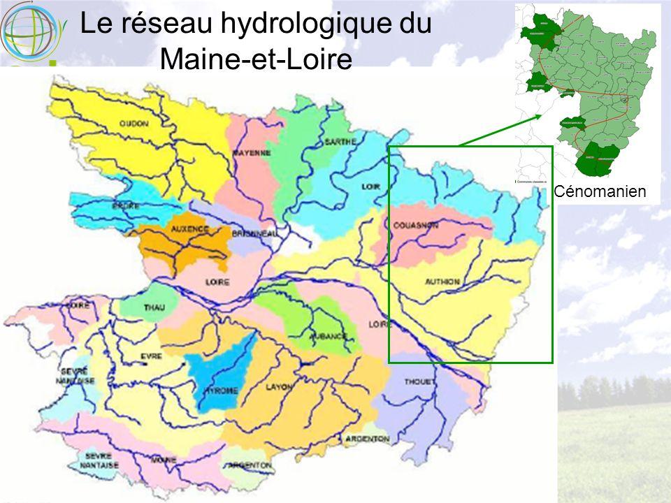 Le réseau hydrologique du Maine-et-Loire Cénomanien