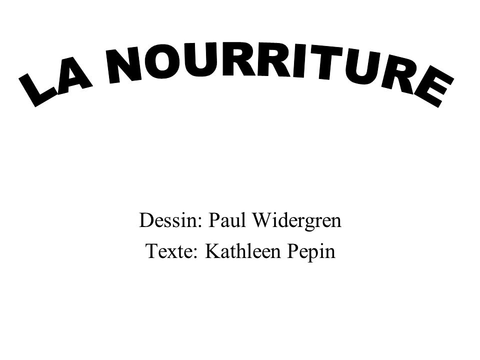 Dessin: Paul Widergren Texte: Kathleen Pepin