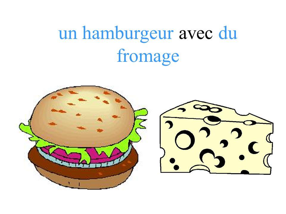 un hamburgeur avec du fromage