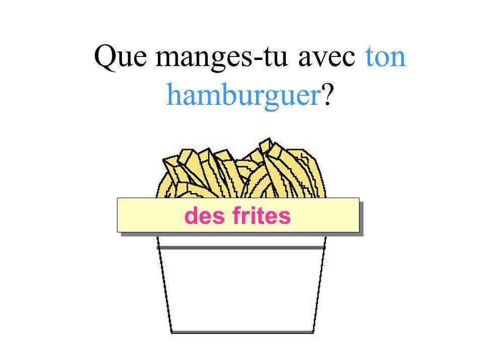 Que manges-tu avec ton hamburguer des frites