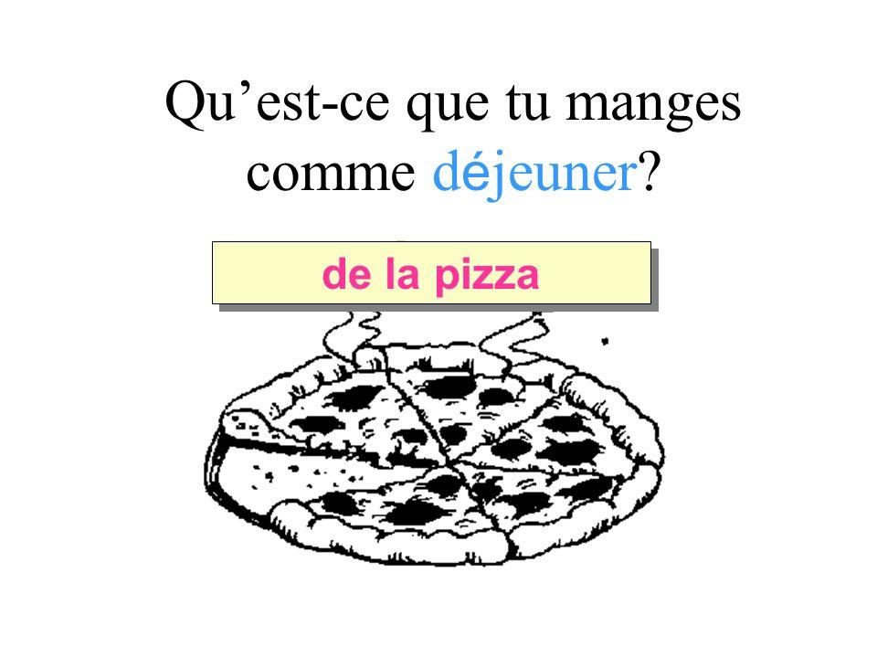 Quest-ce que tu manges comme d é jeuner de la pizza