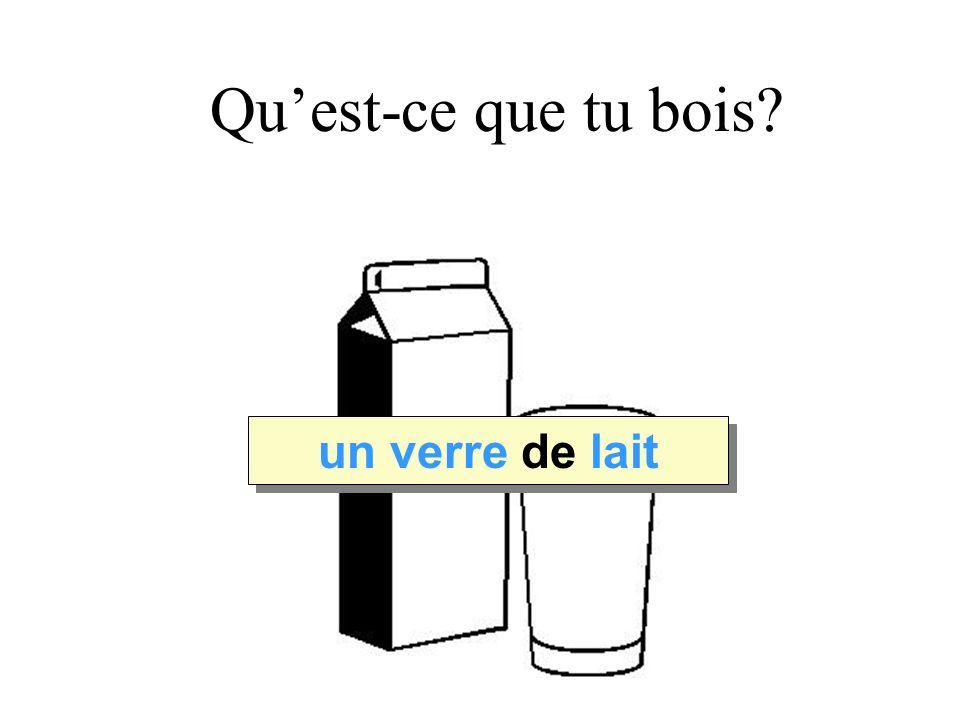 Quest-ce que tu bois Leche un verre de lait