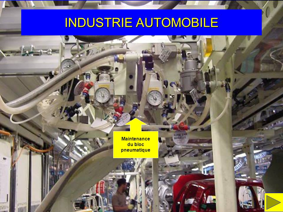 INDUSTRIE AUTOMOBILE Maintenance du bloc pneumatique