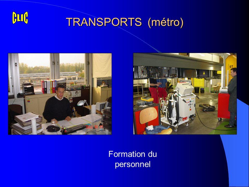 TRANSPORTS (métro) Formation du personnel