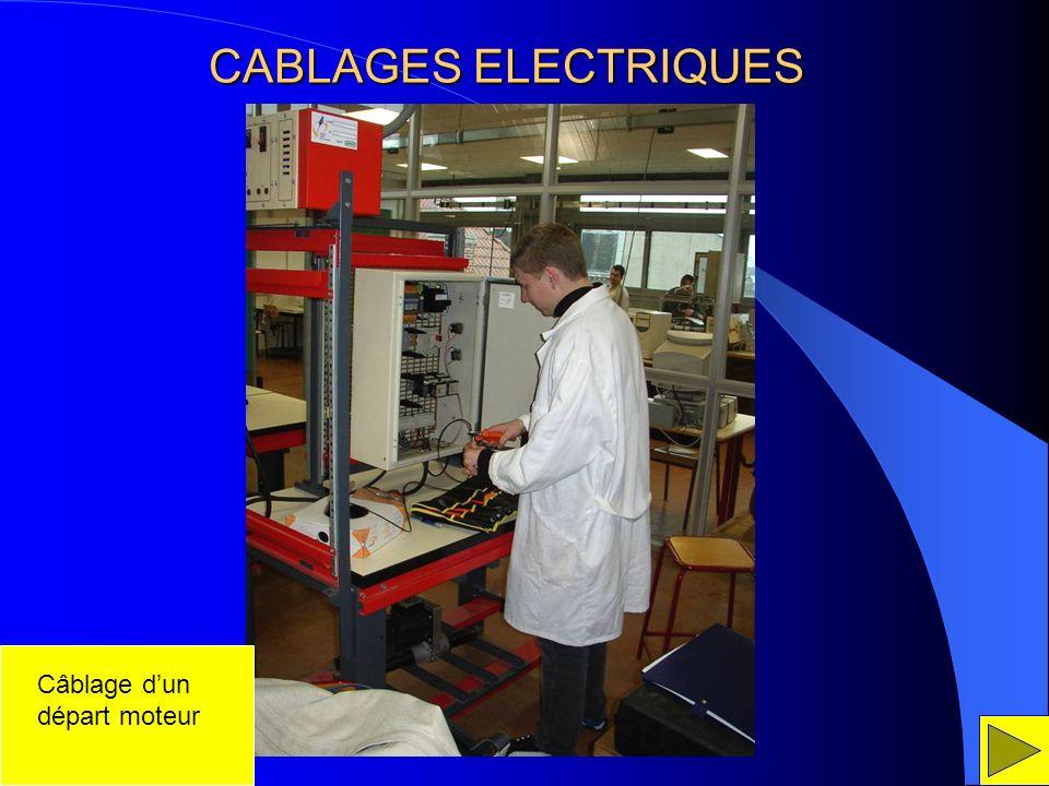 CABLAGES ELECTRIQUES Câblage dun départ moteur