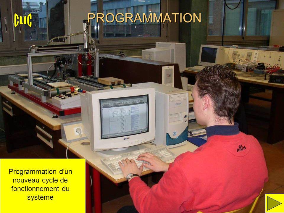 PROGRAMMATION Programmation dun nouveau cycle de fonctionnement du système