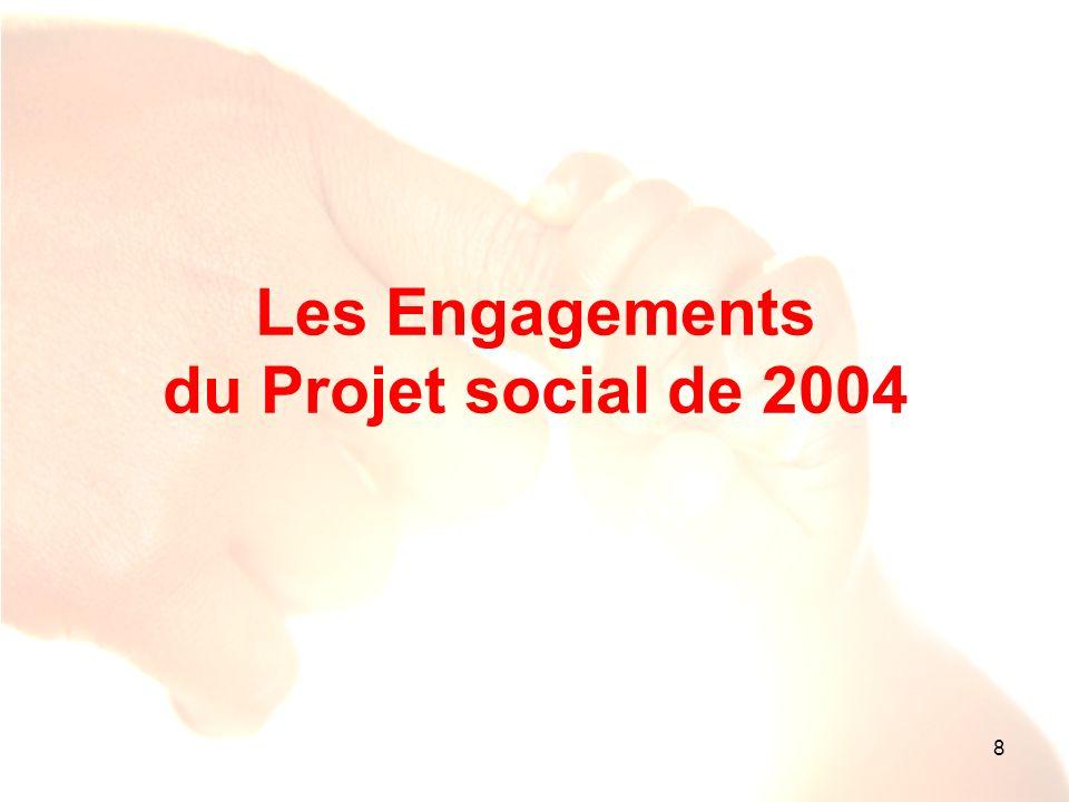 8 Les Engagements du Projet social de 2004