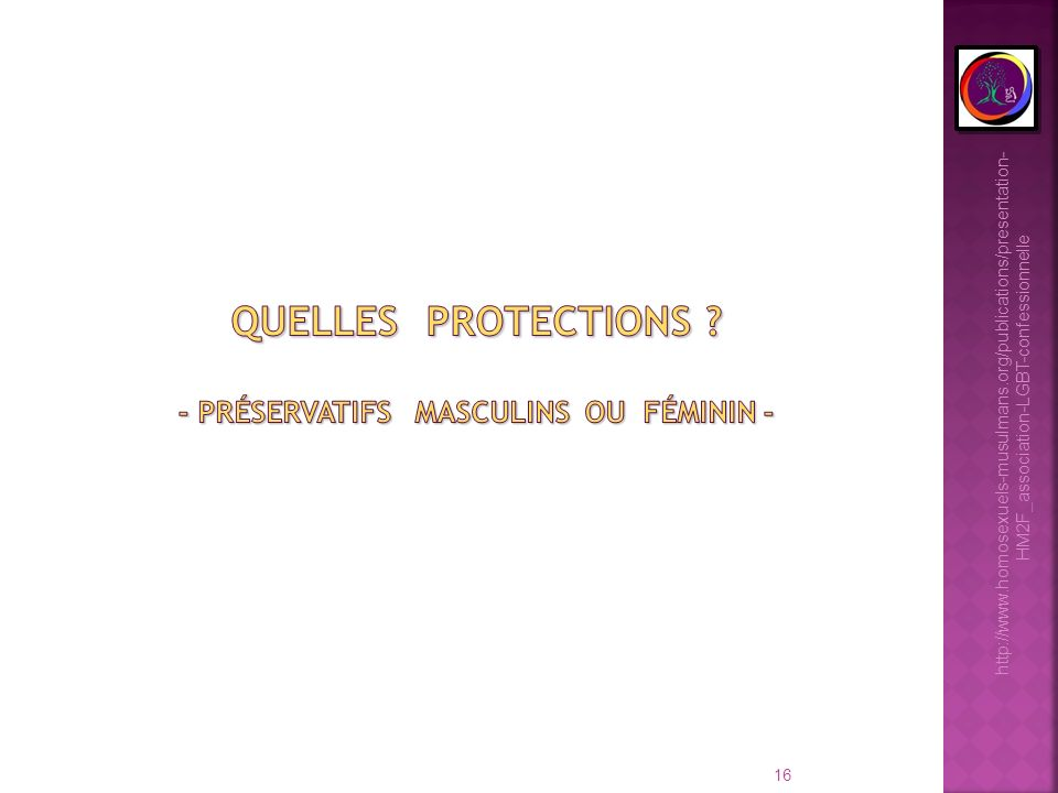 16 http://www.homosexuels-musulmans.org/publications/presentation- HM2F_association-LGBT-confessionnelle