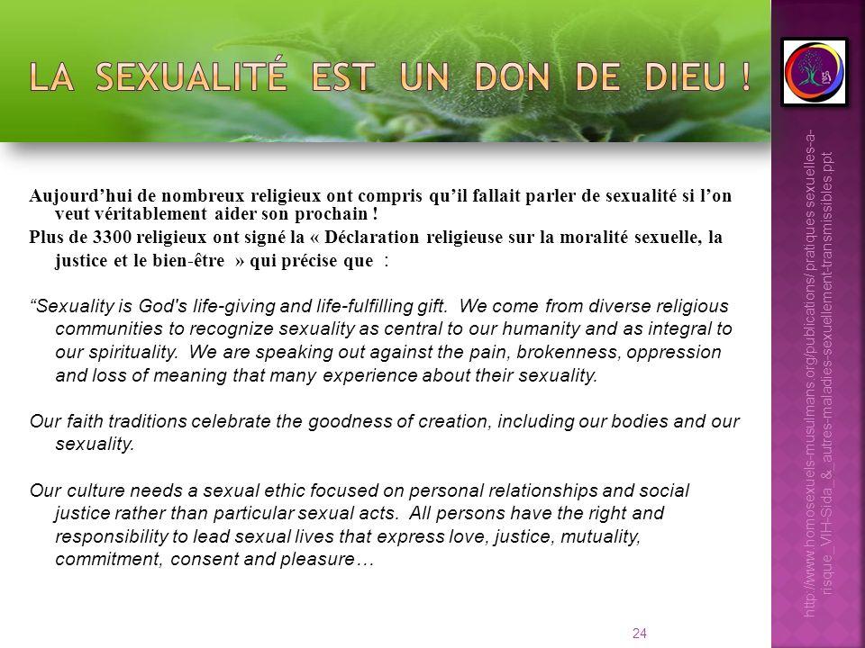 24 Aujourdhui de nombreux religieux ont compris quil fallait parler de sexualité si lon veut véritablement aider son prochain ! Plus de 3300 religieux