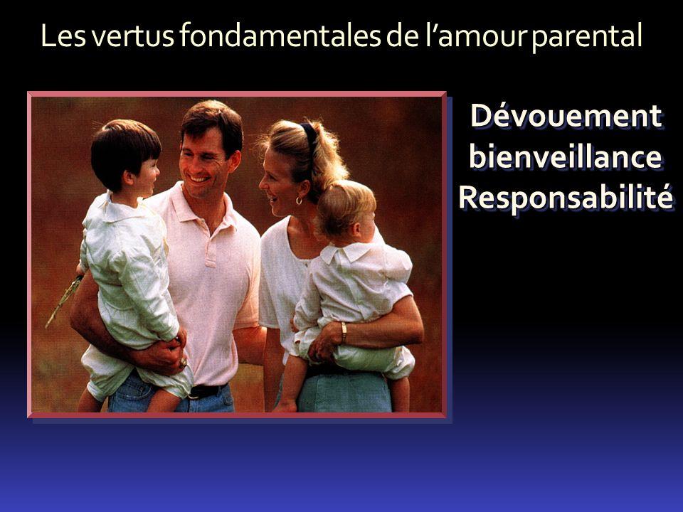 Les vertus fondamentales de lamour parental Dévouement bienveillance Responsabilité Responsabilité