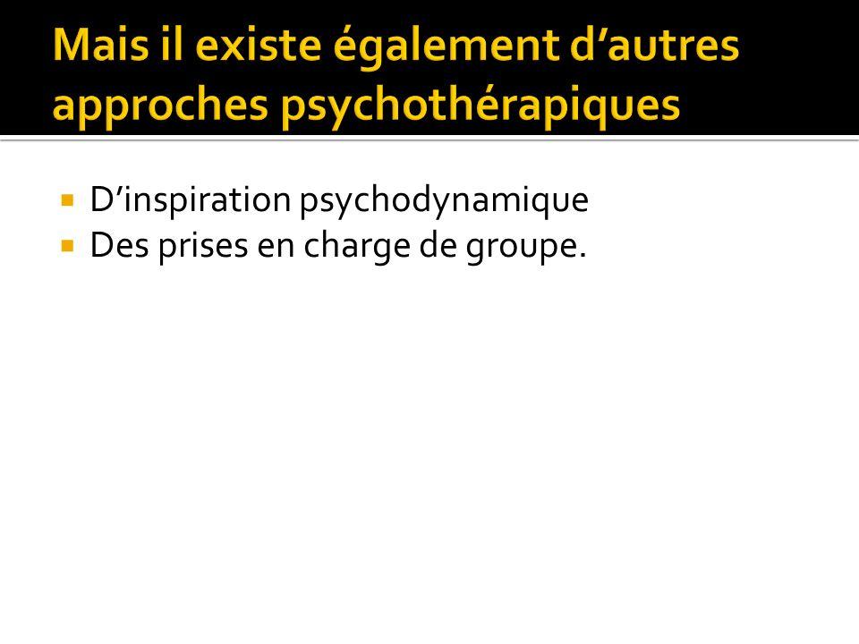 Dinspiration psychodynamique Des prises en charge de groupe.