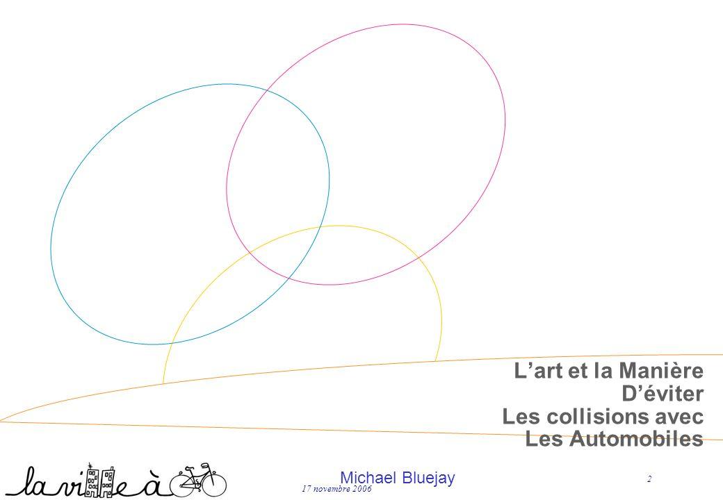 17 novembre 2006 2 Lart et la Manière Déviter Les collisions avec Les Automobiles Michael Bluejay