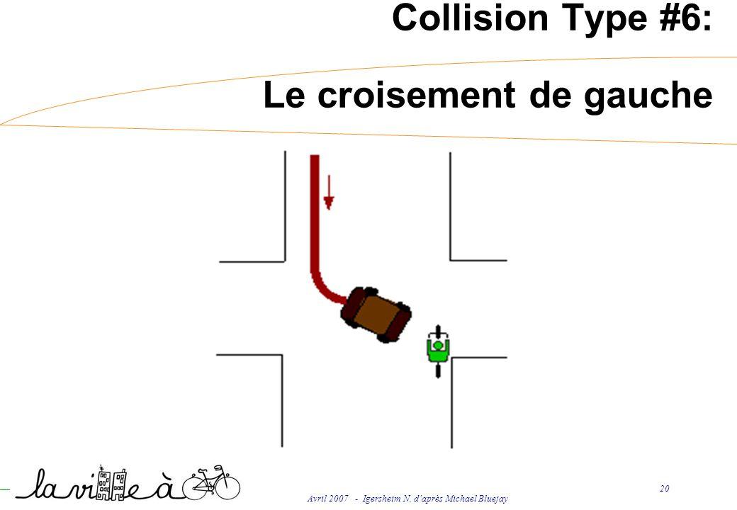 Avril 2007 - Igersheim N. daprès Michael Bluejay 20 Collision Type #6: Le croisement de gauche