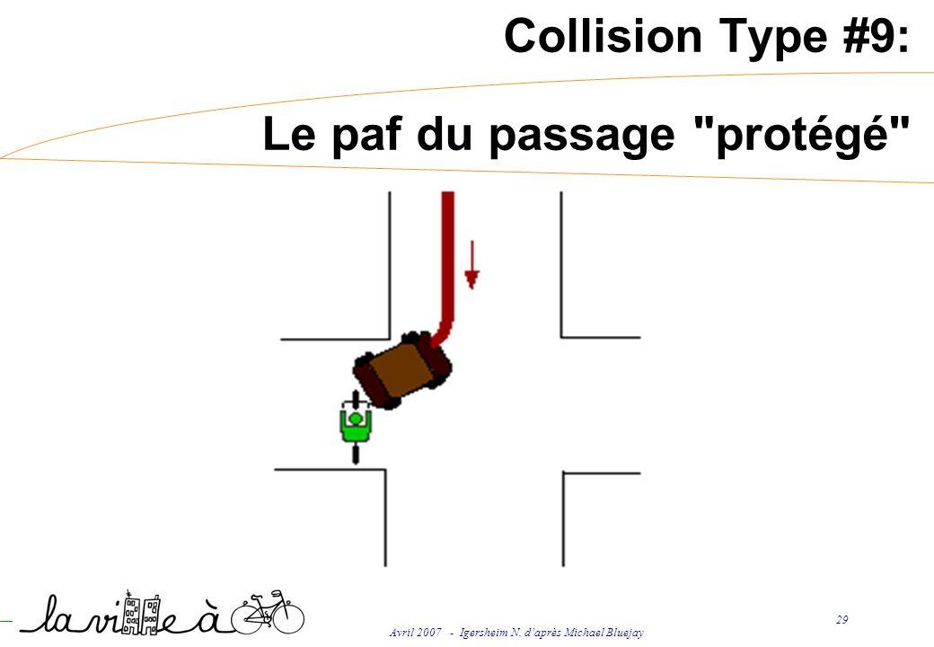 Avril 2007 - Igersheim N. daprès Michael Bluejay 29 Collision Type #9: Le paf du passage protégé