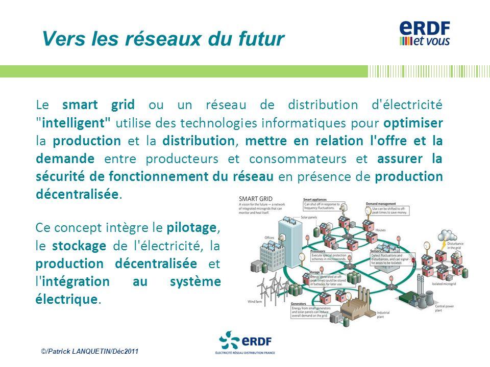©/Patrick LANQUETIN/Déc2011 Vers les réseaux du futur Le smart grid ou un réseau de distribution d'électricité