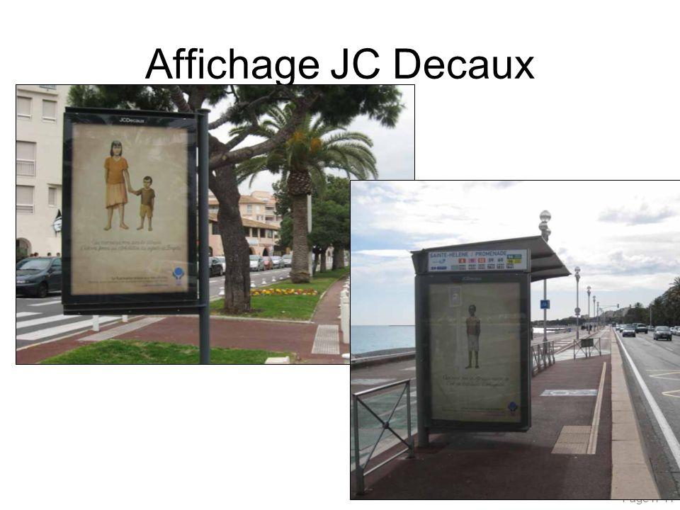 Page n°11 Affichage JC Decaux