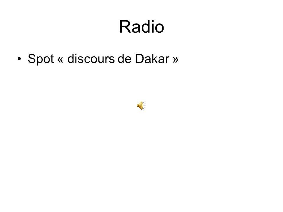 Radio Spot « discours de Dakar »