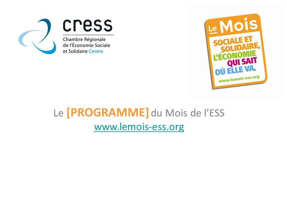Le [PROGRAMME] du Mois de lESS www.lemois-ess.org
