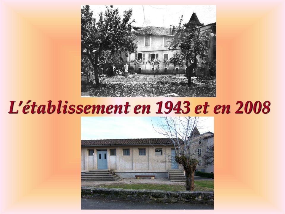Létablissement en 1943 et en 2008