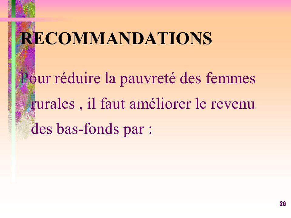 25 CONCLUSION (suite) -La marge brute du riz de bas-fond des femmes de Kadolio (Ouatialy) est supérieure à celle des femmes de Bougouni (Sola)( figure