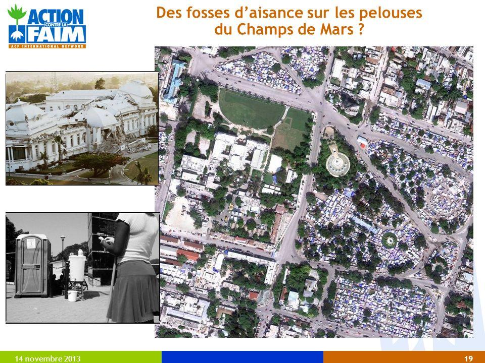 14 novembre 201319 Des fosses daisance sur les pelouses du Champs de Mars ?