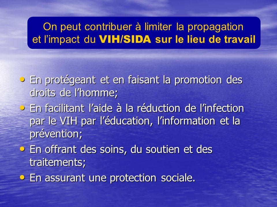 En protégeant et en faisant la promotion des droits de lhomme; En protégeant et en faisant la promotion des droits de lhomme; En facilitant laide à la