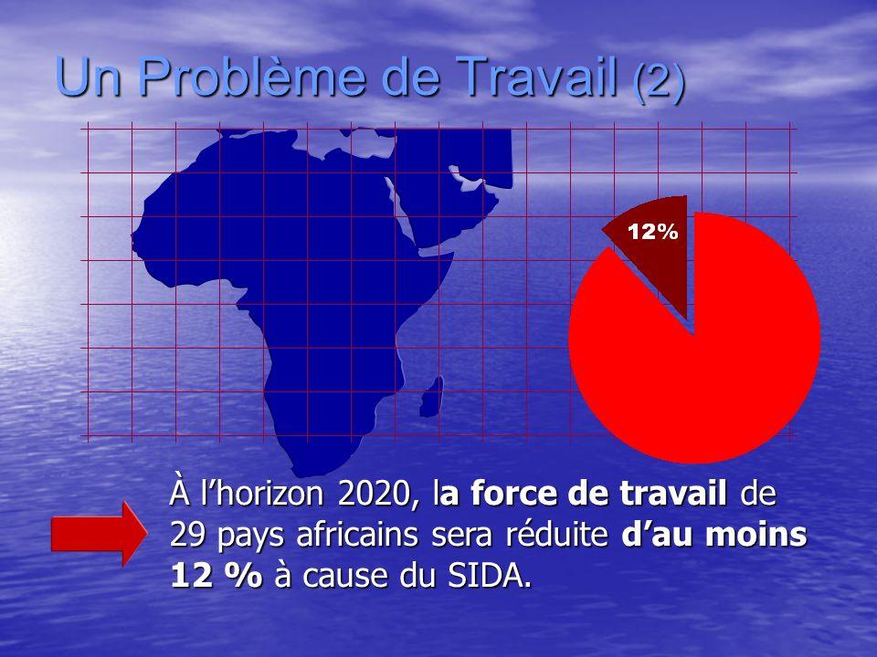 Un Problème de Travail (2) À lhorizon 2020, la force de travail de 29 pays africains sera réduite dau moins 12 % à cause du SIDA.