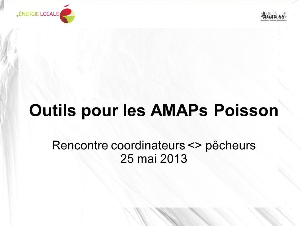 Outils pour les AMAPs Poisson Rencontre coordinateurs <> pêcheurs 25 mai 2013