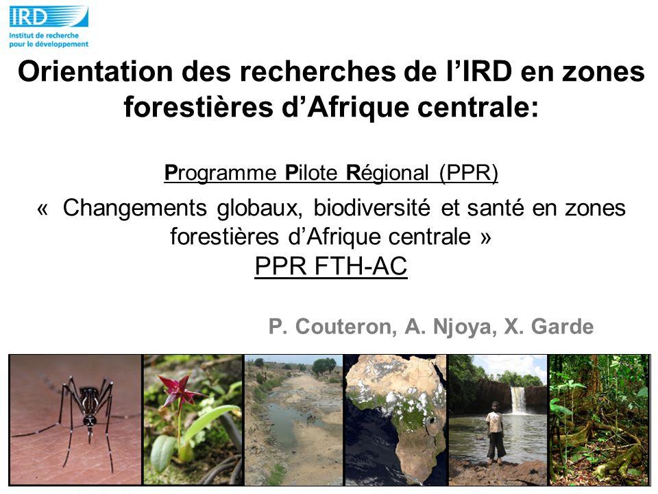 Orientation des recherches de lIRD en zones forestières dAfrique centrale: Programme Pilote Régional (PPR) « Changements globaux, biodiversité et sant