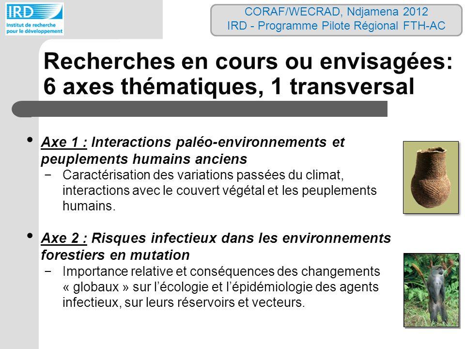 Axe 1 : Interactions paléo-environnements et peuplements humains anciens Caractérisation des variations passées du climat, interactions avec le couver