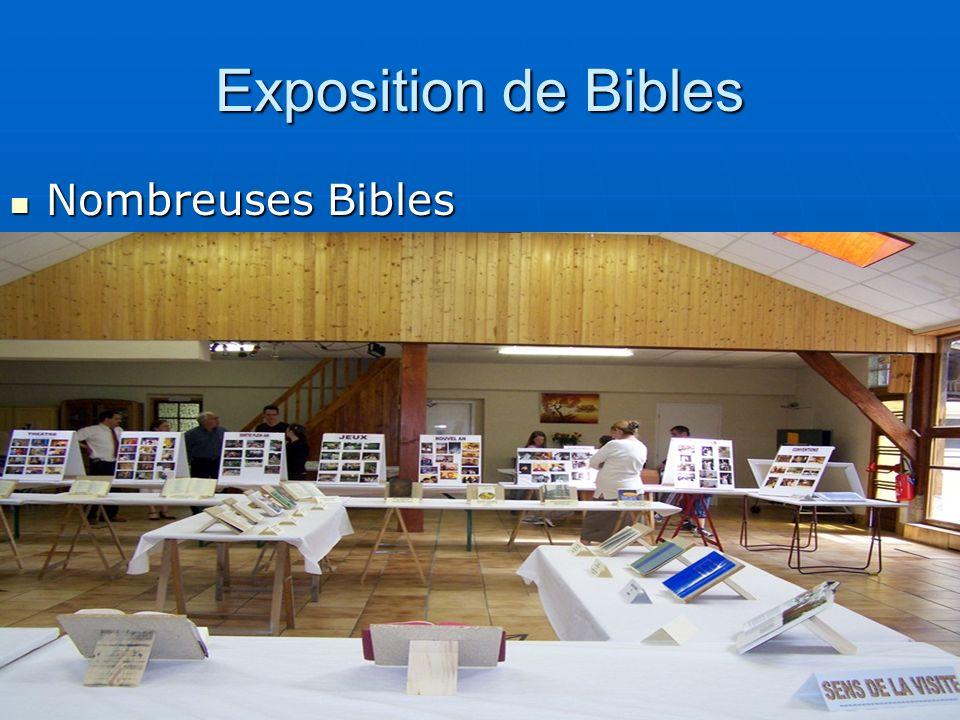 Exposition de Bibles Nombreuses Bibles Nombreuses Bibles